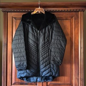 The North Face- Reversible long jacket